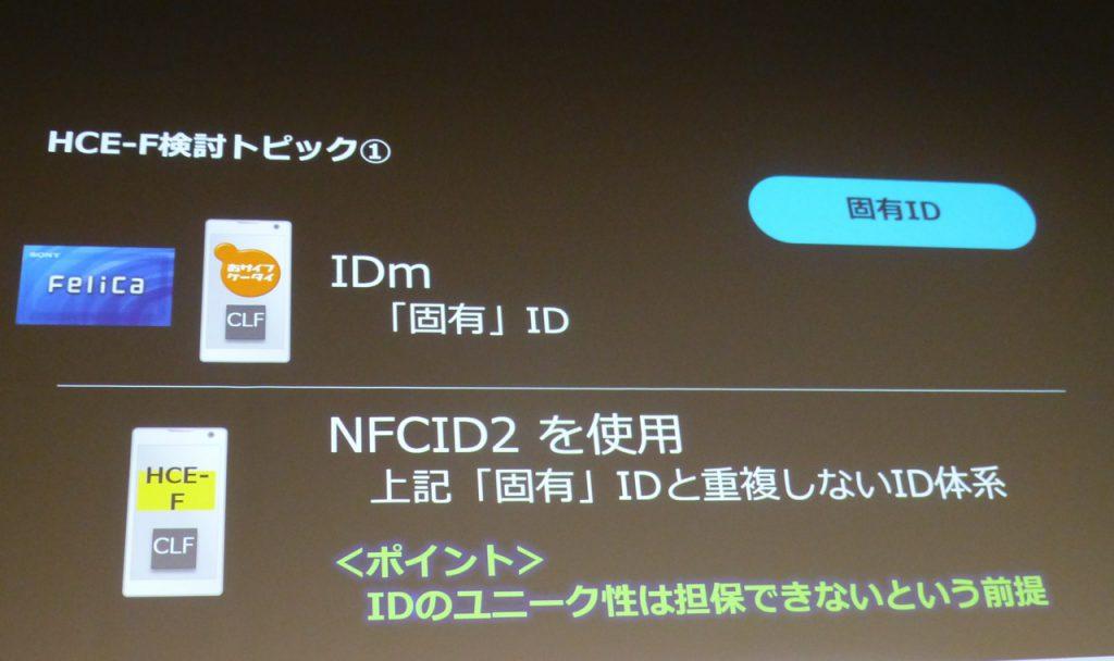 写真4 HCE-Fにおける固有ID