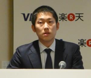 写真1 楽天株式会社 スマートペイ事業 事業長・小林 重信氏