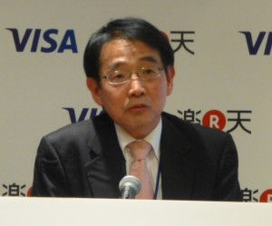 写真2 ライアビリティシフトについて説明する ビザ・ワールドワイド・ジャパン株式会社 シニアディレクター リスクマネージメント・井原 亮二氏