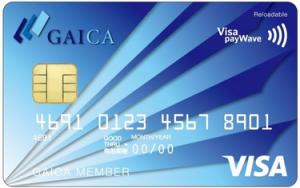 海外プリペイドカード GAICA(Visa payWave対応)券面デザイン