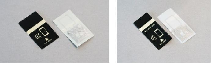 開発した「真贋判定タイプ」(左)と、「開封検知タイプ」(右)(凸版印刷の報道発表資料より)