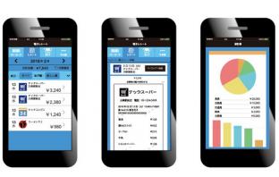 電子レシートアプリの画面イメージ(出典:経済産業省の報道発表資料より)