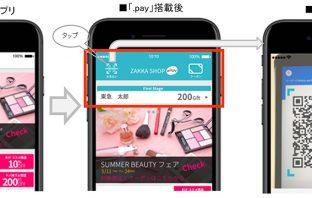 クレジット決済ソリューション「.pay」の組み込みイメージ(出典:NTTデータの報道発表資料より)