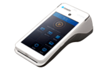 クレジットカード・各種QRコード決済等にオールインワンで提供する端末UT-P10(出典:トランザクション・メディア・ネットワークスの報道発表資料より)