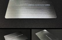 「METAL SURFACE CARD」のサンプル(出典:凸版印刷の報道発表資料より)