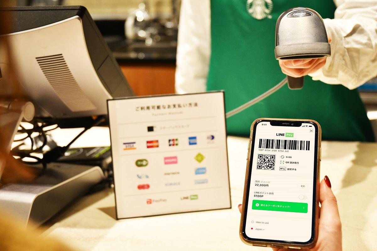 (出典:スターバックス コーヒー ジャパンとLINE Payの報道発表資料より)