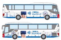 運行予定のラッピングバス(出典:三井住友カード、ビザ・ワールドワイド・ジャパン、QUADRAC、小田原機器の報道発表資料より)